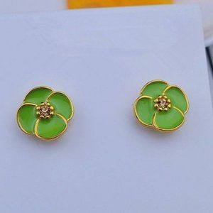 Kate Spade Lucky Four Leaf Green Earrings